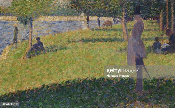 Study for La Grande Jatte 18841885 Found in the collection of the National Gallery London