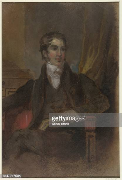 Study for 'Portrait of James Cornell Biddle,' Museum of Fine Arts, Houston, TX, Thomas Sully, 1783 – 1872, Brush and oil paint on paperboard,...