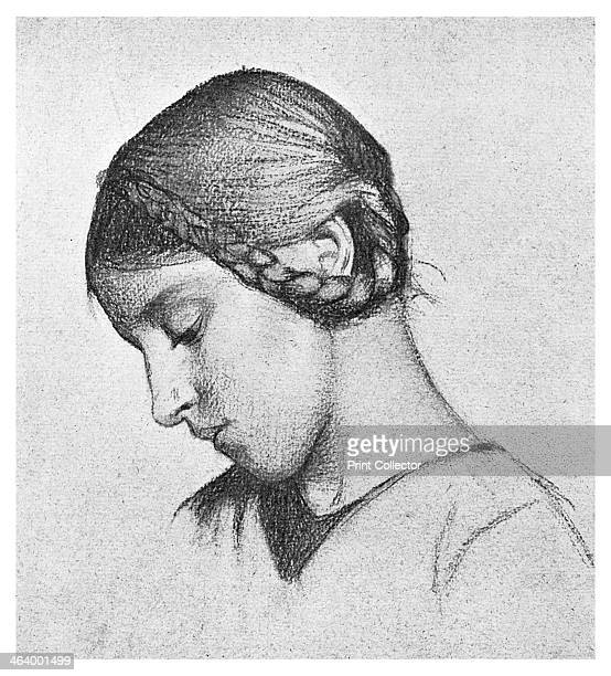 Study for 'St Elizabeth of Hungary', c1895 . Elizabeth was the daughter of Andras II of Hungary. After the death in 1227 of her husband Louis IV,...