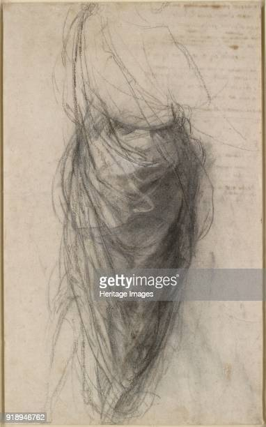 Study for the Drapery of a Man in back view early 16th century Verso Figure Studies Dimensions height x width sheet 38 x 23 cm