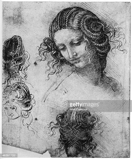 Study for the Head of Leda 15031507 Found in the collection of the Royal Library Windsor Castle Windsor A print from Leonardo da Vinci by Ludwig H...