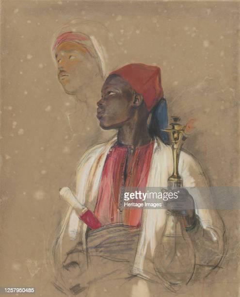 Study for The Pipe Bearer 184151 Artist John Frederick Lewis