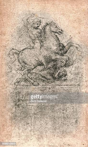 Study for the Sforza Monument c1482c1499 Charcoal drawing on brown paper
