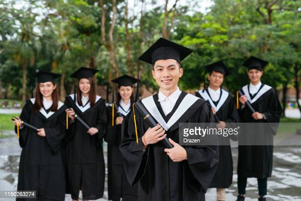 study in japan, china or south korea. - graduation clothing stock pictures, royalty-free photos & images