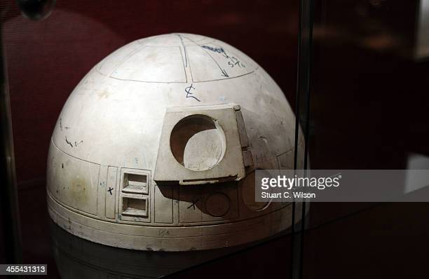 A study mould for the dome of R2D2's head which was used in Star Wars A NEW HOPE on display at Bonham's Auction House on December 12 2013 in London...