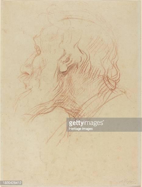 Study of a Beggar. Artist Alphonse Legros.