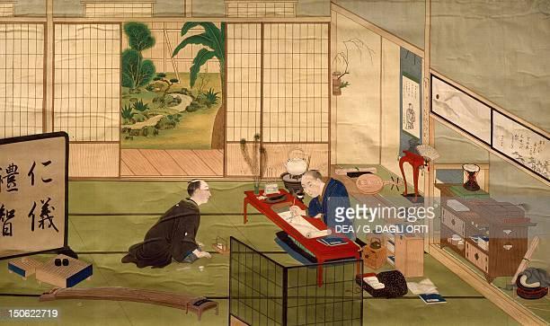 Study of a calligrapher by Kawahara Keiga watercolour Japan Japanese Civilisation beginning 19th century