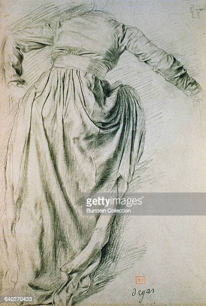 Study of a Draped Woman by Edgar Degas
