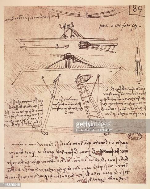 Study of a flying machine by Leonardo da Vinci