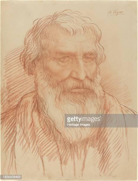 Study of a Head. Artist Alphonse Legros.