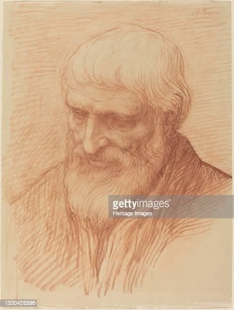 Study of a Philosopher. Artist Alphonse Legros.