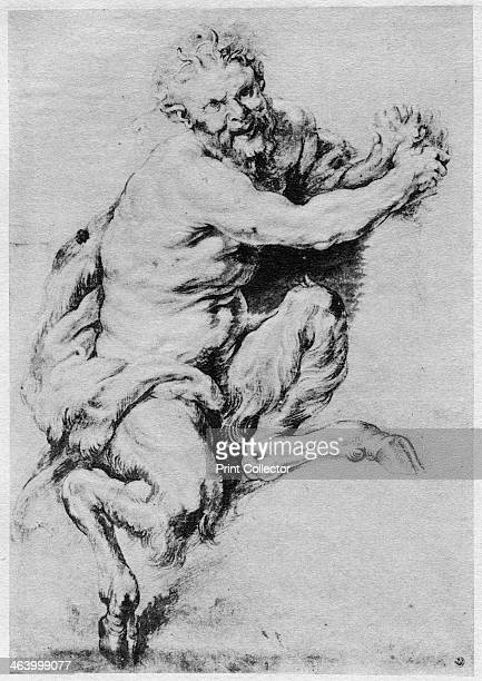 Study of a Satyr 1913 A print from The Art of the Great Masters by Frederic Lees Sampson Low Marston and Co London 1913