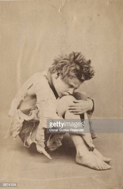 A study of a street child by Swedish photographer Oscar Gustav Rejlander 1860 Albumen print