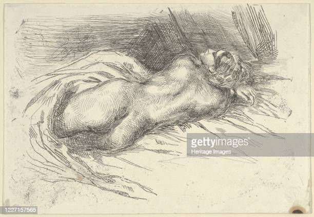Study of a Woman Viewed from Behind, 1833. Artist Eugene Delacroix.
