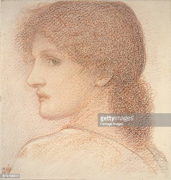 Study of a Woman's Head turned to Left 1886 Artist Sir Edward Coley BurneJones