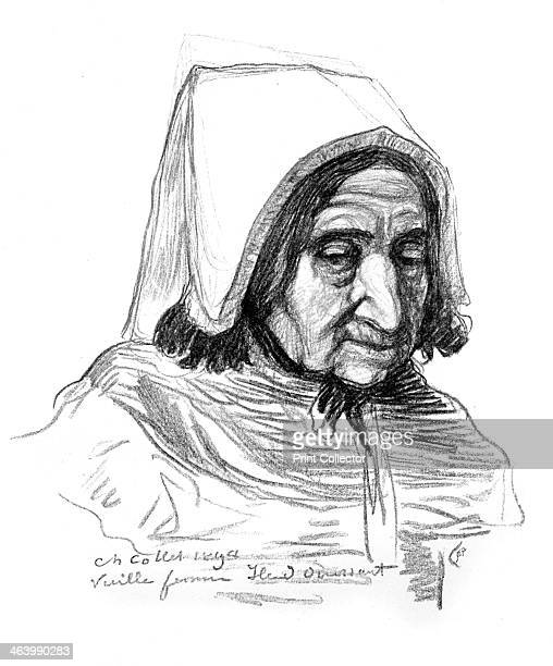 Study of an old woman's head 1899 Plate taken from The Studio magazine volume 15 no 70