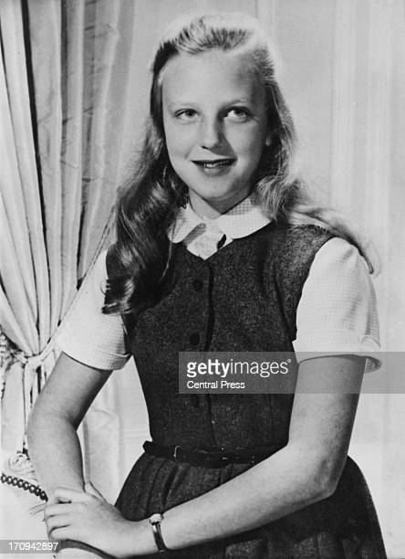 A study of Princess MarieChristine of Belgium specially taken for her twelfth birthday 6th February 1963