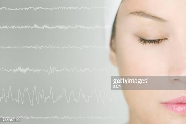 study of sleep - eeg stock pictures, royalty-free photos & images