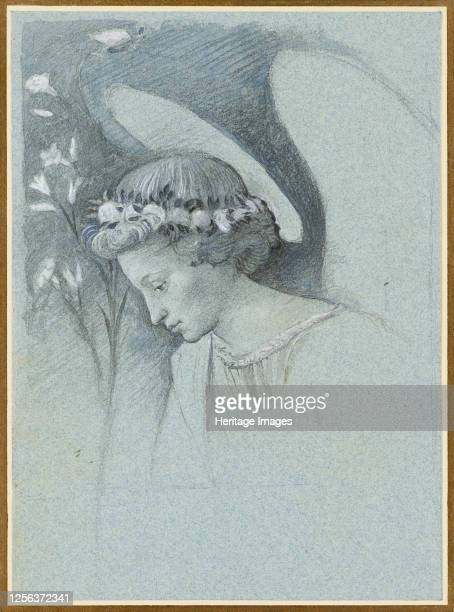 Study of the Head of the Angel Gabriel in Filippo Lippi's 'The Announcing Angel' 28 June 1870 Artist John Ruskin