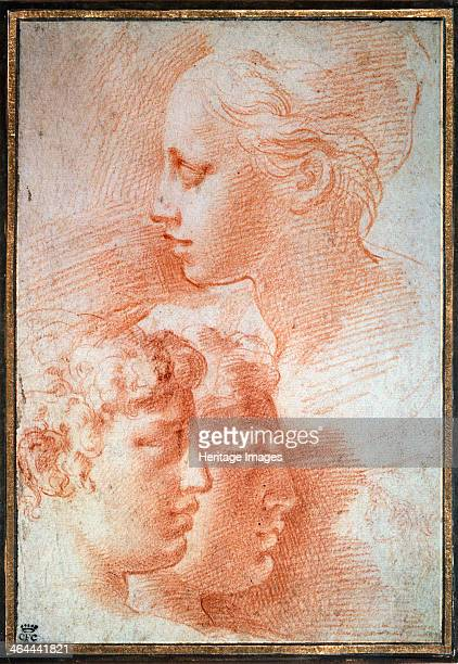 'Study of the heads' c1527 Parmigianino Found in the collection of the State A Pushkin Museum of Fine Arts Moscow