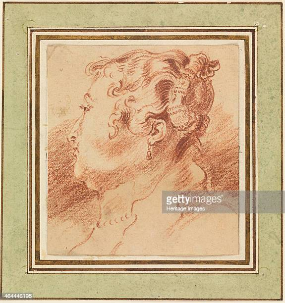 Study of Woman's Head c 1725 Found in the collection of the CooperHewitt National Design Museum