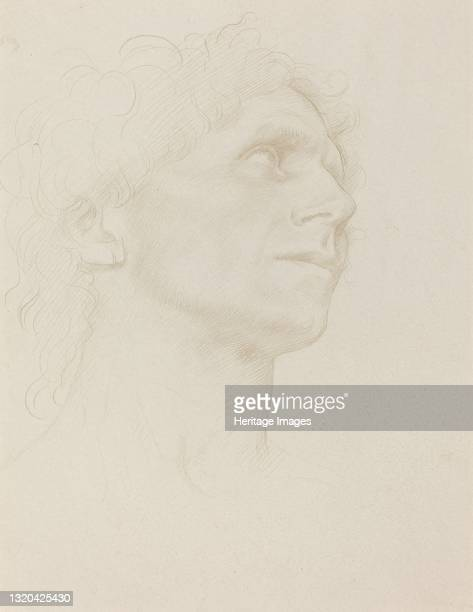 Study of Woman's Head, Turned Right. Artist Alphonse Legros.
