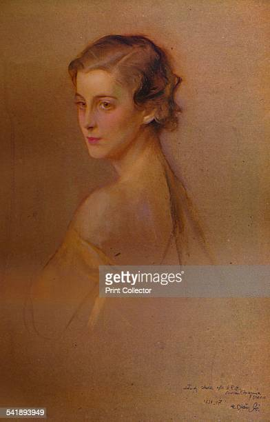 'Study Portrait of HRH the Duchess of Kent' 1934 Princess Marina Duchess of Kent wife of Prince George Duke of Kent the fourth son of King George V...