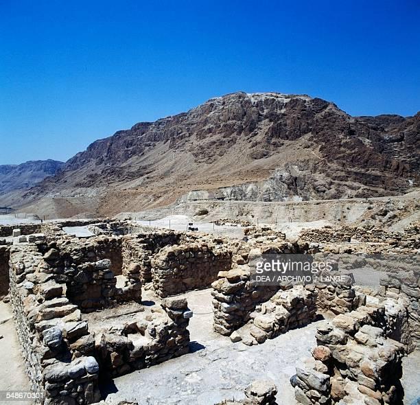 Study rooms ancient Essene settlement of Khirbet Qumran 1st century BC1st century AD Israel