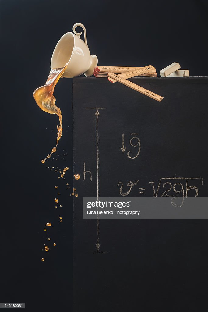 A study with free fall : Stock Photo