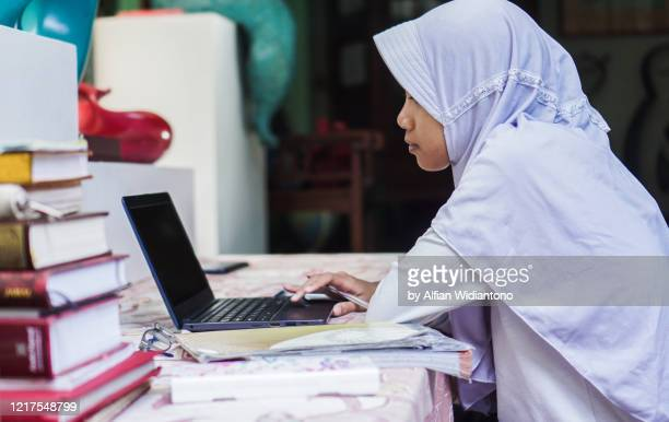 studying at home - indonesia stock pictures, royalty-free photos & images