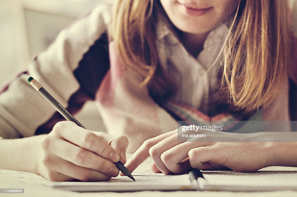 Studying girl : Stock Photo
