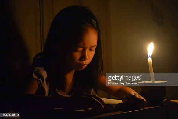 Studying in candle