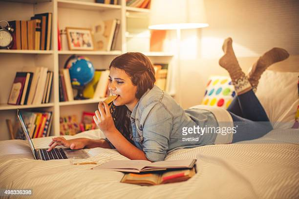 studying time! - only teenage girls stock pictures, royalty-free photos & images
