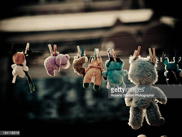 stuffed animals - roberto bordieri stockfoto's en -beelden