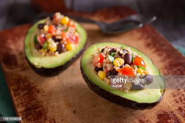 stuffed avocado - filling stock pictures, royalty-free photos & images