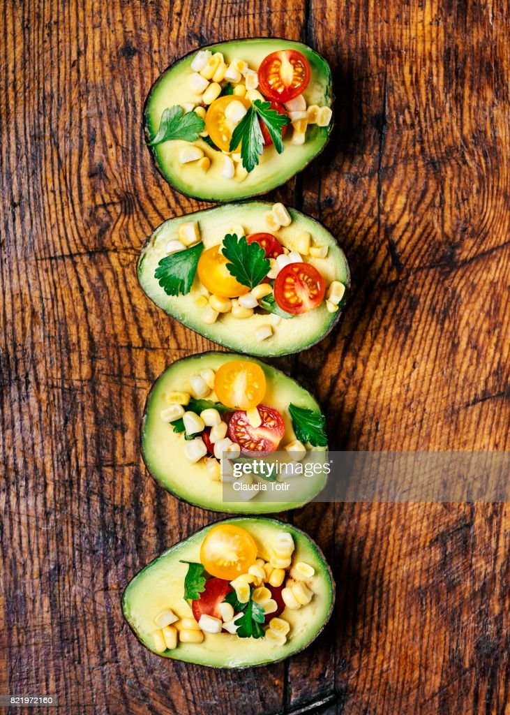 Stuffed avocado : Stock Photo