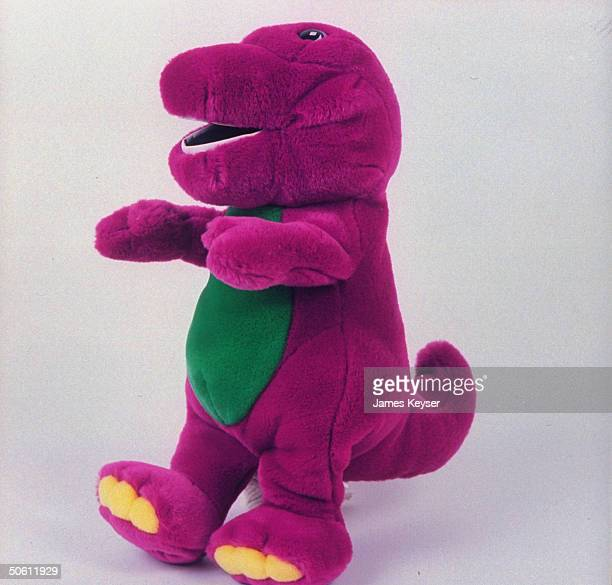 Stuffed Barney the dinosaur star character of popular public TV children's show Barney Friends