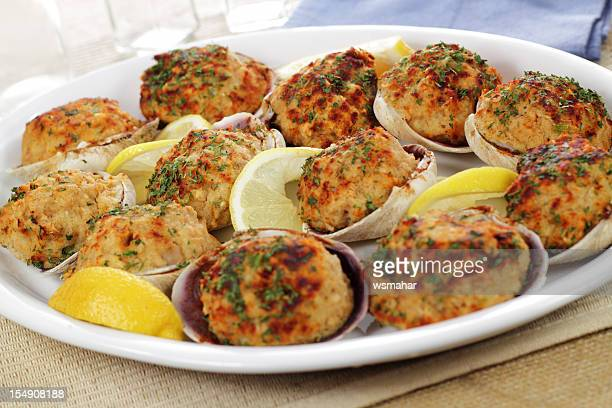 stuffed clams - stuffing stock photos and pictures