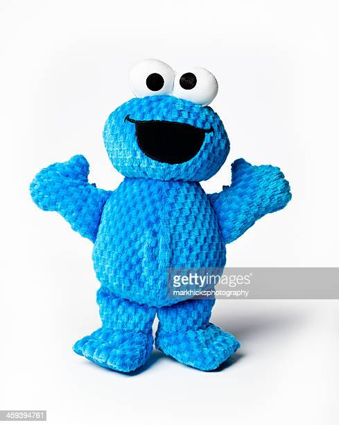 stuffed cookie monster toy - cookie monster stock pictures, royalty-free photos & images