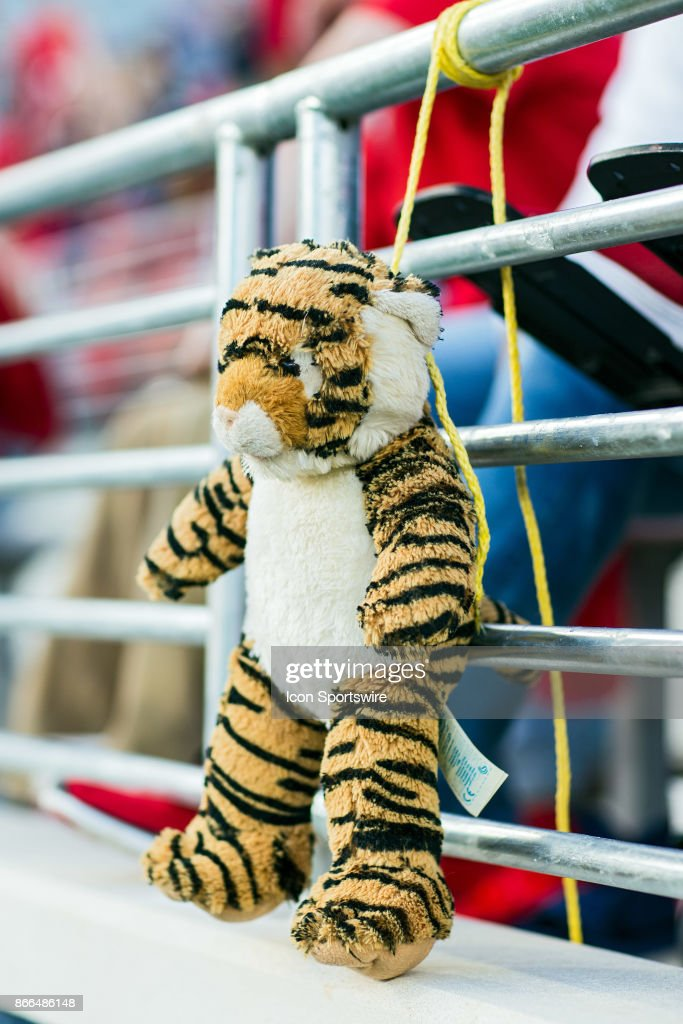 A Stuffed Mike The Tiger Hangs By His Neck In The End Zone During