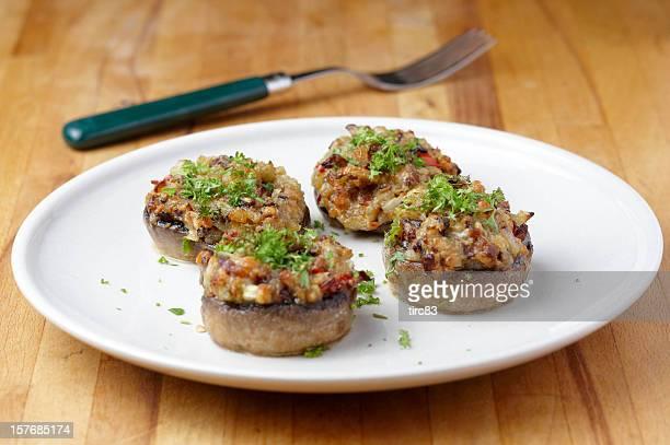 Recheado de cogumelos e receita