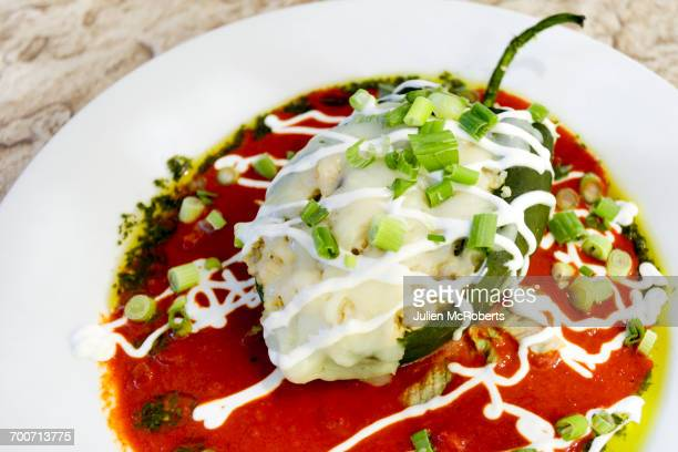 Stuffed pepper in bowl