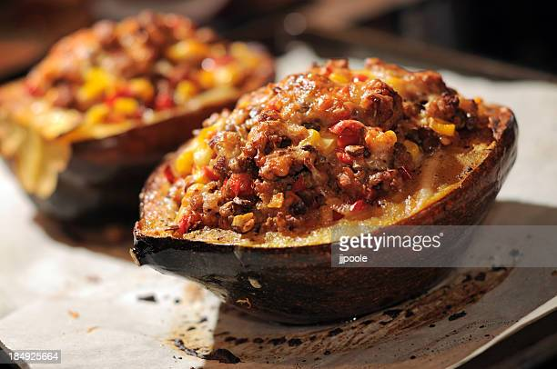 stuffed squash - stuffing stock photos and pictures