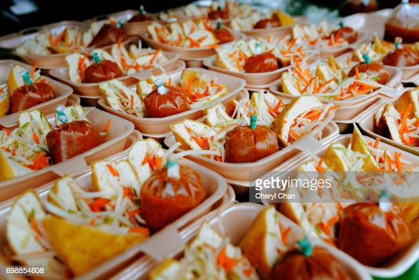 Stuffed tofu at Ramadan Bazaar