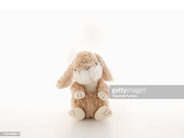 A stuffed toy rabbit.