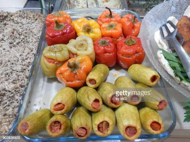 Stuffed zucchini, stuffed bell peppers
