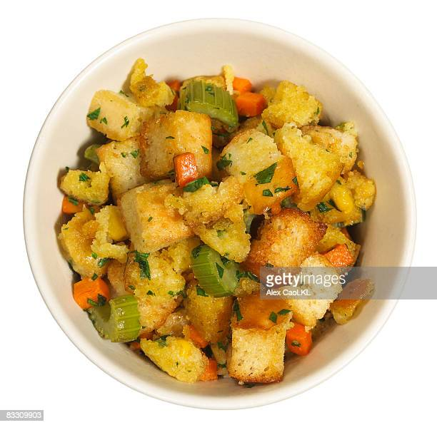 stuffing - crouton stock photos and pictures
