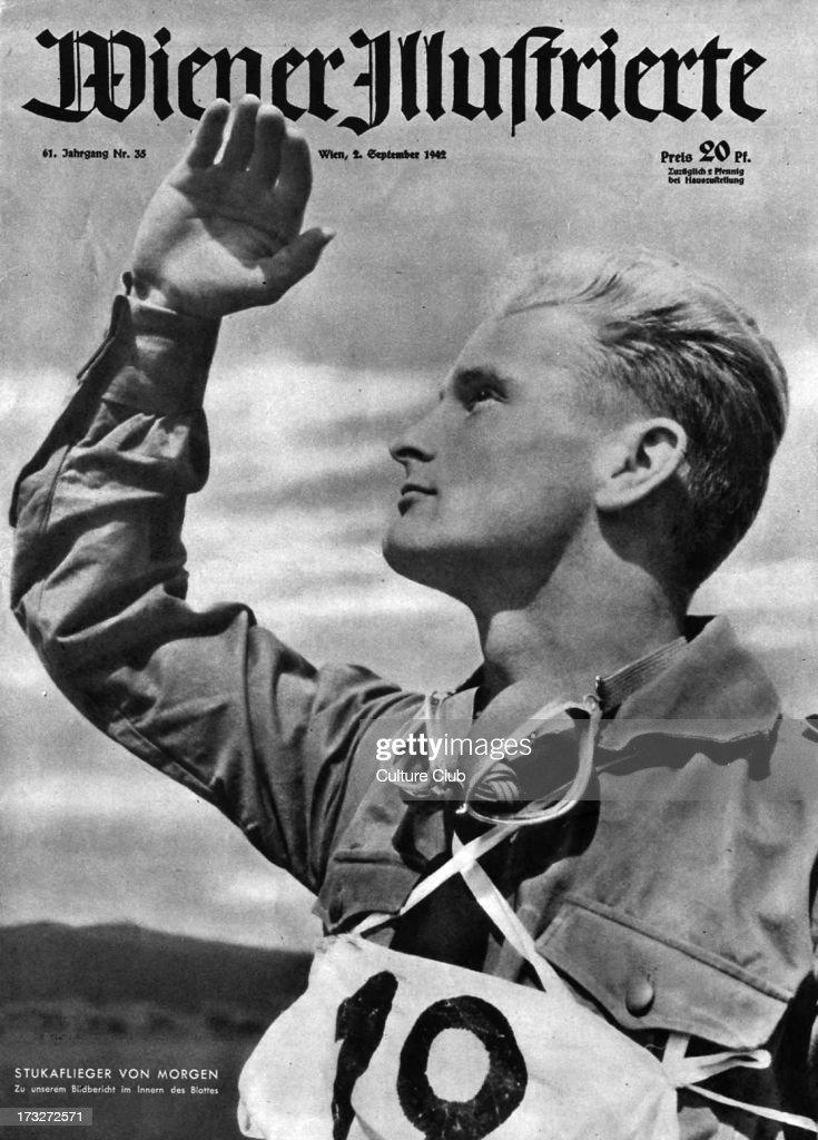 Stuka Pilot on cover of Wiener Illustrierte 2 September 1942 ...