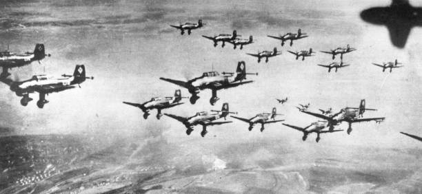 Stukas In Formation Wall Art