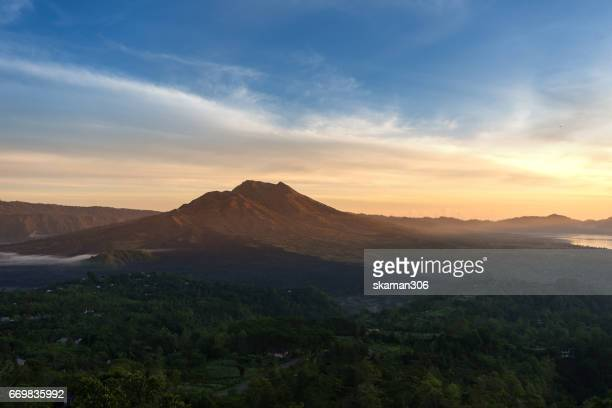 Stuning view of Batur volcano and kintamani mountain area  bali